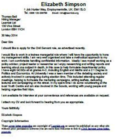 Covering letter example for job application