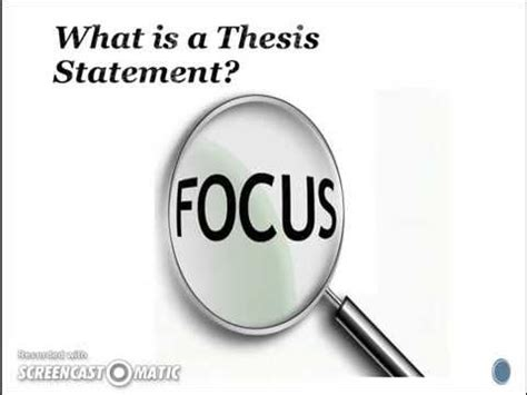 How to write a thesis statement english essay
